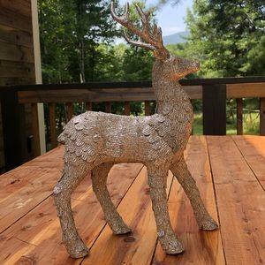 Gold glitter year round or xmas reindeer figurine